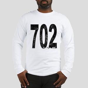 Distressed Las Vegas 702 Long Sleeve T-Shirt