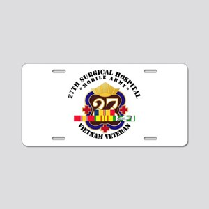 Army - 27th Surgical Hospit Aluminum License Plate
