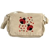 Ladybugs Canvas Messenger Bags