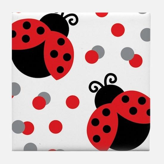 LADYBUG DUO Tile Coaster