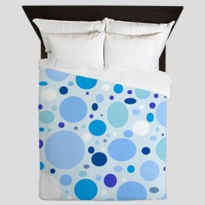 Fun Blue Dots Queen Duvet