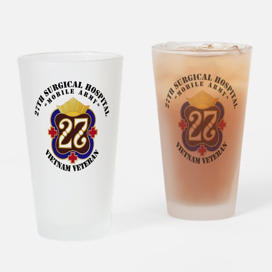 Army - 27th Surgical Hospital NO SV Drinking Glass