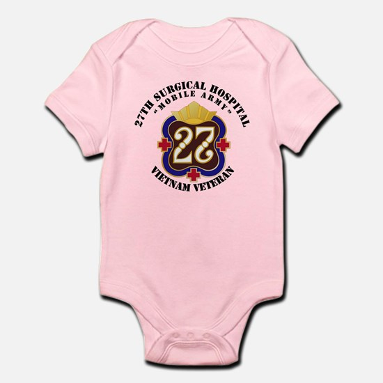 Army - 27th Surgical Hospital NO S Infant Bodysuit