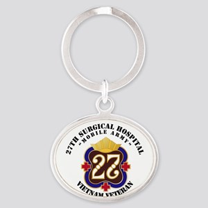 Army - 27th Surgical Hospital NO SVC Oval Keychain