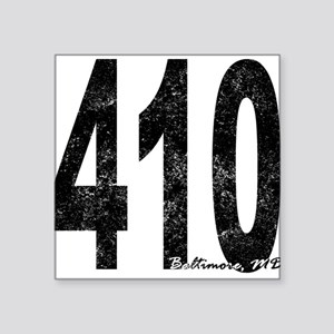 Distressed Baltimore 410 Sticker