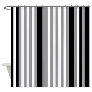 Vertical Striped Shower Curtains