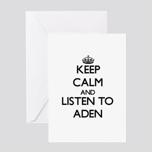 Keep Calm and Listen to Aden Greeting Cards