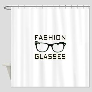 Fashion Glasses Shower Curtain