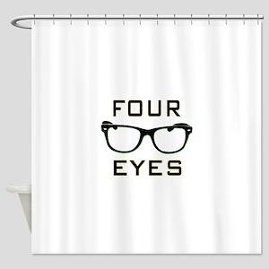 Four Eyes Shower Curtain