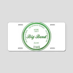 Big Bend National Park, Texas Aluminum License Pla
