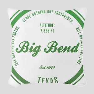 Big Bend National Park, Texas Woven Throw Pillow