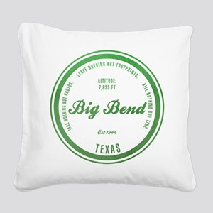 Big Bend National Park, Texas Square Canvas Pillow