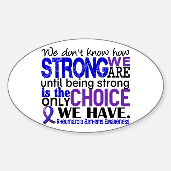 RA How Strong We Are Sticker (Oval)