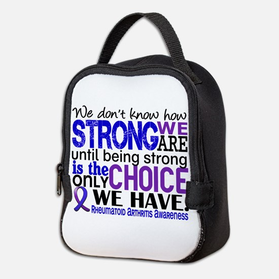 RA How Strong We Are Neoprene Lunch Bag