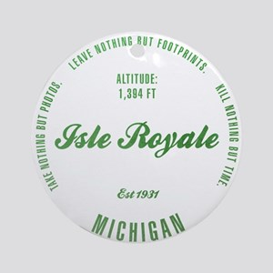 Isle Royale National Park, Michigan Ornament (Roun
