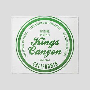 Kings Canyon National Park, California Throw Blank