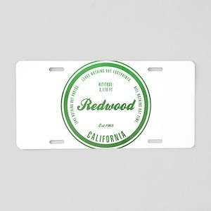 RedWood National Park, California Aluminum License