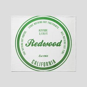 RedWood National Park, California Throw Blanket