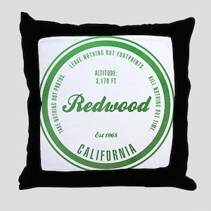 RedWood National Park, California Throw Pillow