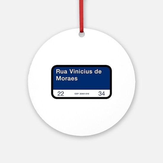 Rua Vinicius de Moraes, Rio (BR) Ornament (Round)