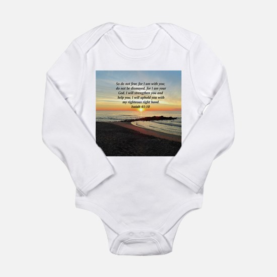 ISAIAH 41:10 Long Sleeve Infant Bodysuit