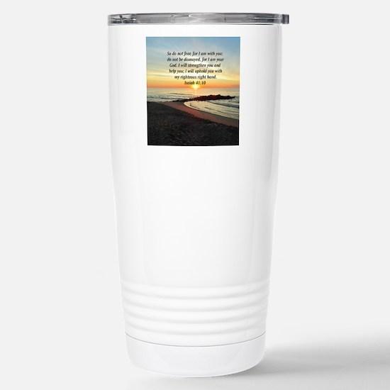 ISAIAH 41:10 Stainless Steel Travel Mug