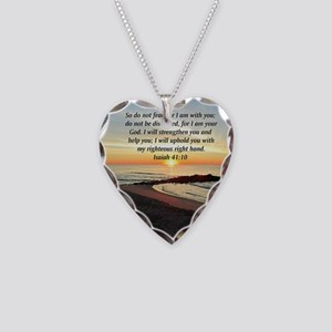 ISAIAH 41:10 Necklace Heart Charm