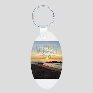 ISAIAH 41:10 Aluminum Oval Keychain