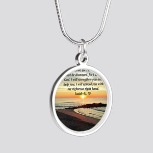 ISAIAH 41:10 Silver Round Necklace