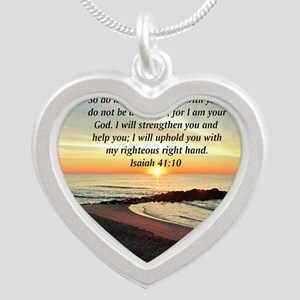 ISAIAH 41:10 Silver Heart Necklace
