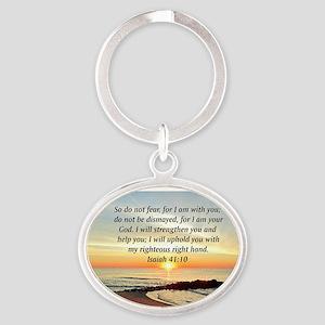 ISAIAH 41:10 Oval Keychain