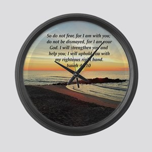 ISAIAH 41:10 Large Wall Clock