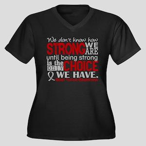 Brain Tumor Women's Plus Size V-Neck Dark T-Shirt