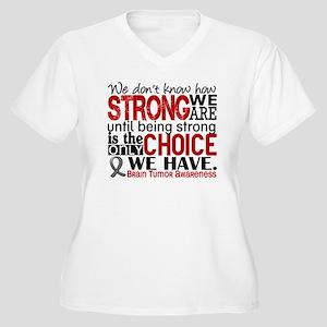 Brain Tumor How S Women's Plus Size V-Neck T-Shirt