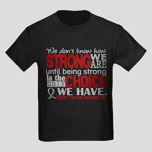 Brain Tumor How Strong We Are Kids Dark T-Shirt
