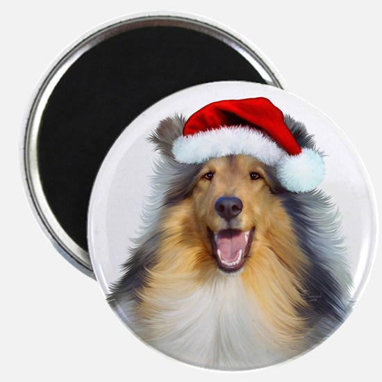 Santa Collie Magnet