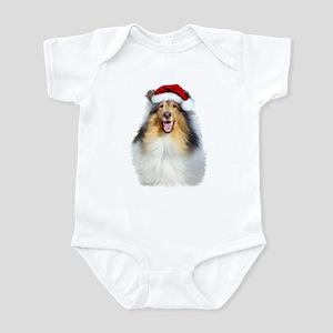 Santa Collie Infant Bodysuit