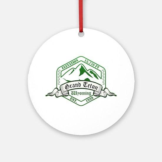 Grand Teton National Park, Wyoming Ornament (Round