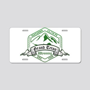 Grand Teton National Park, Wyoming Aluminum Licens