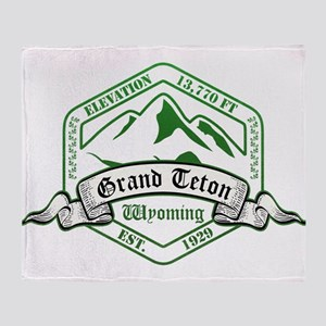 Grand Teton National Park, Wyoming Throw Blanket