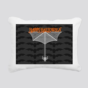 Happy Halloween Spiderwe Rectangular Canvas Pillow