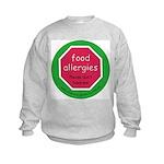food allergies don't feed Kids Sweatshirt