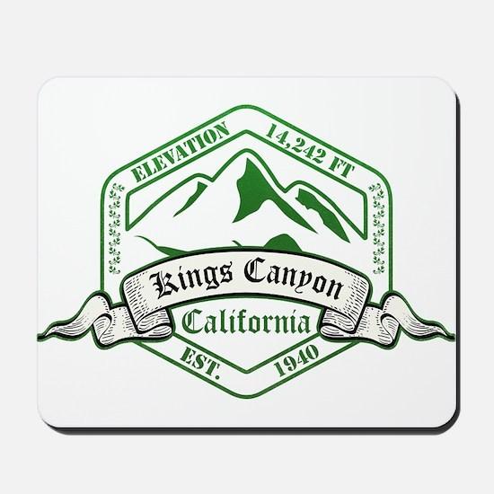 Kings Canyon National Park, California Mousepad