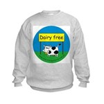 Dairy free-allergy alert Kids Sweatshirt