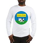 Dairy free-allergy alert Long Sleeve T-Shirt