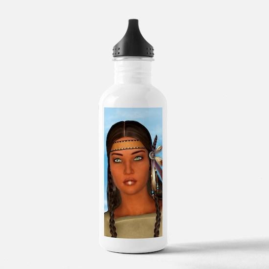 Indian Girl Water Bottle