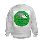 Eggs, nuts and dairy Kids Sweatshirt