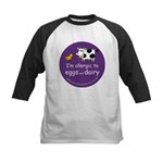 eggs and dairy Kids Baseball Jersey