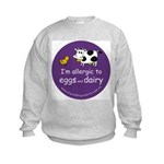 eggs and dairy Kids Sweatshirt