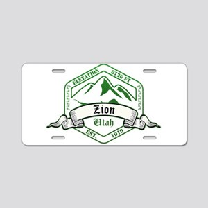 Zion National Park, Utah Aluminum License Plate